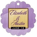 Bali Scallop Hang Tag In Lilac | Taylor Street Favors