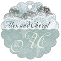 Chantilly Scallop Hang Tag In Seafoam | Taylor Street Favors