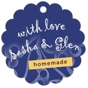 Holly Glow Scallop Hang Tag In Deep Blue | Taylor Street Favors
