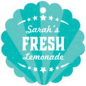 Lemonade Stand Scallop Hang Tag In Turquoise | Taylor Street Favors
