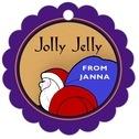 Santa Scallop Hang Tag In Purple & Gold | Taylor Street Favors