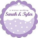 Snowswirls Scallop Hang Tag In Lilac | Taylor Street Favors