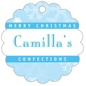 Snowflake Scallop Hang Tag In Ice Blue | Taylor Street Favors