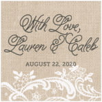 Burlap & Lace custom labels