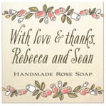 Sweet Rose custom labels